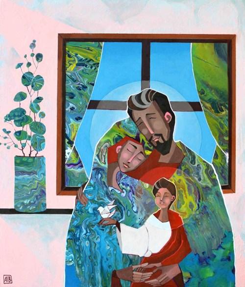 Obraz do salonu artysty Anna Oleszkiewicz pod tytułem Rodzinna Fotografia