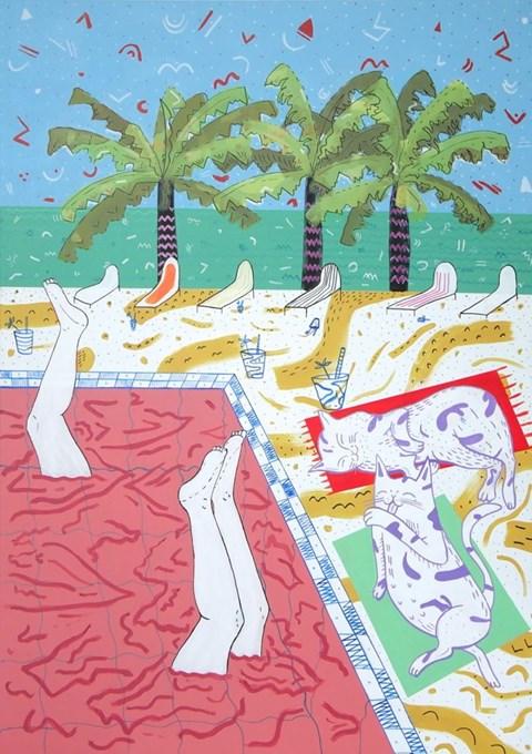 Obraz do salonu artysty Marysia Jagłowska pod tytułem All-inclusive