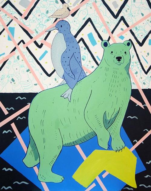 Obraz do salonu artysty Marysia Jagłowska pod tytułem W poszukiwaniu kryli