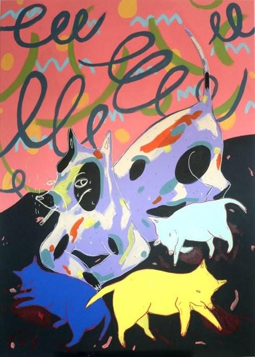 Obraz do salonu artysty Marysia Jagłowska pod tytułem Skończyła mi się cierpliwość