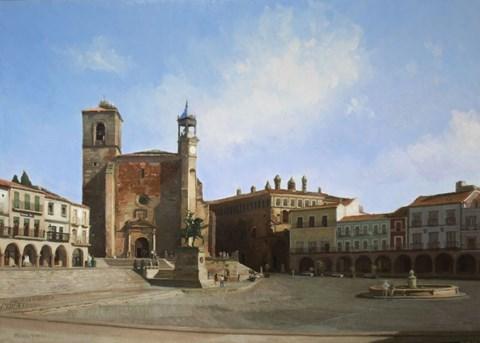 Obraz do salonu artysty Michał Janicki pod tytułem Plaza Mayor de Trujillo