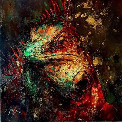 Obraz do salonu artysty Grażyna Mucha pod tytułem Iguana