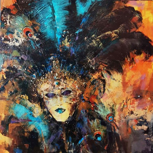 Obraz do salonu artysty Grażyna Mucha pod tytułem Maska