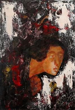 Obraz do salonu artysty Piotr Januszkiewicz pod tytułem Niosący