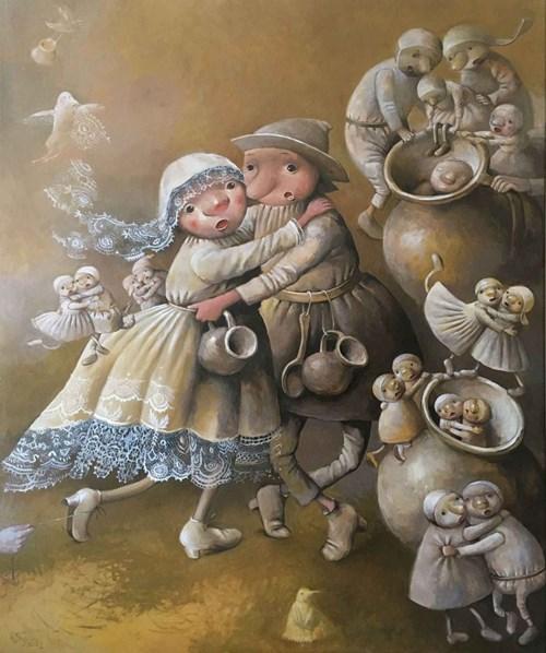 Obraz do salonu artysty Katarzyna Słowiańska-Kucz pod tytułem Tańczący