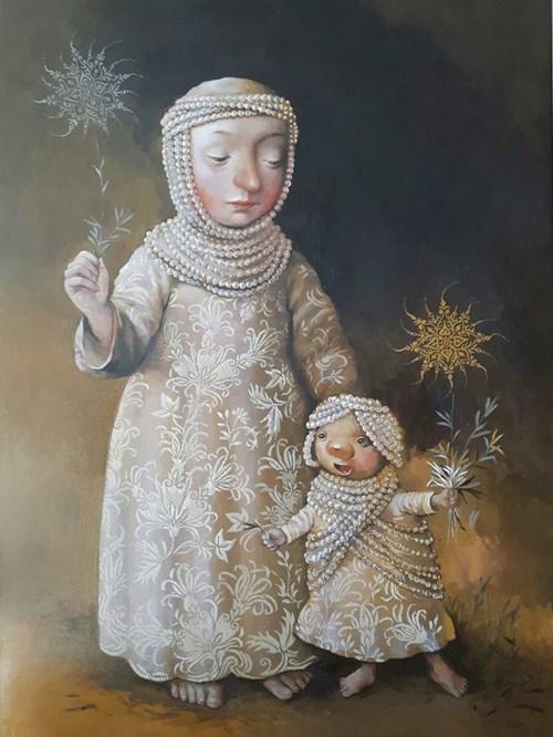 Obraz do salonu artysty Katarzyna Słowiańska-Kucz pod tytułem Perła