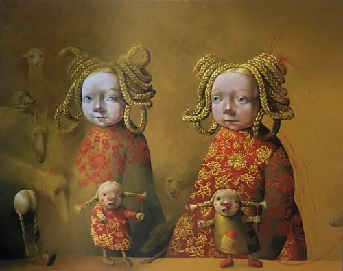 Obraz do salonu artysty Katarzyna Słowiańska-Kucz pod tytułem Pożegnanie