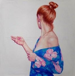 Obraz do salonu artysty Sylwester Stabryła pod tytułem Blada Róża