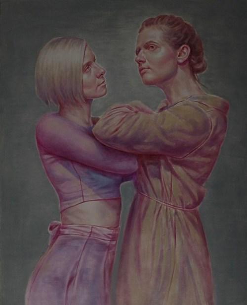 Obraz do salonu artysty Sylwester Stabryła pod tytułem Lekcja