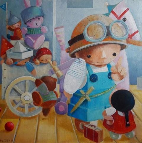 Obraz do salonu artysty Mirella Stern pod tytułem Męski wypad