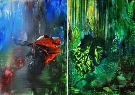 Line of Life IX and X (diptych)