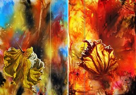 Line of Life VII and XIII (diptych)