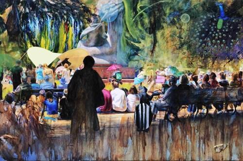 Obraz do salonu artysty Radosław Jastrzębski pod tytułem Słuchając Chopina