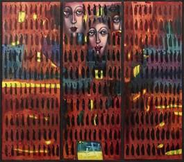 Obraz do salonu artysty Aleksander Grzybek pod tytułem Tryptyk w podróży
