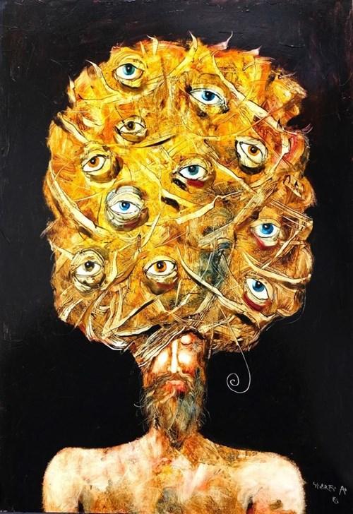 Obraz do salonu artysty Andras Gyorfi pod tytułem Spy
