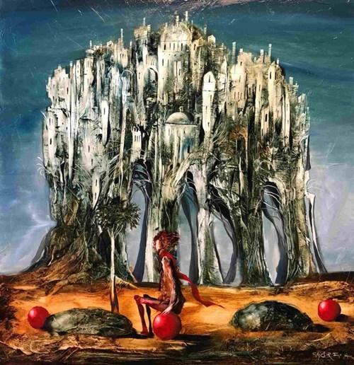 Obraz do salonu artysty Andras Gyorfi pod tytułem Don Kichot