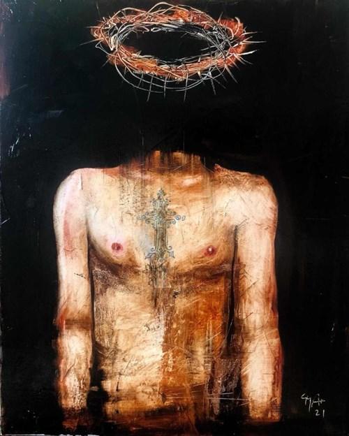 Obraz do salonu artysty Andras Gyorfi pod tytułem Messiah