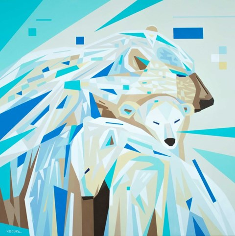 Obraz do salonu artysty Artur Marciniszyn pod tytułem Polar Love