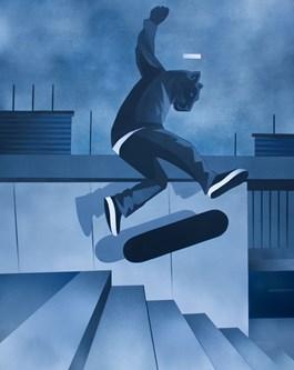 Obraz do salonu artysty Artur Marciniszyn pod tytułem Panther Flip