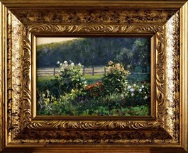 Obraz do salonu artysty Wojciech Górecki pod tytułem Ogród pod lasem
