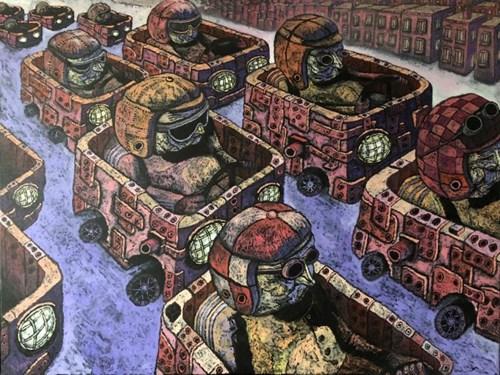 Obraz do salonu artysty Piotr Nogaj pod tytułem WRC