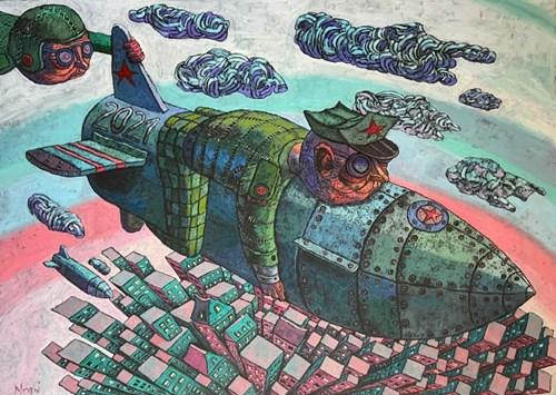 Obraz do salonu artysty Piotr Nogaj pod tytułem Desant II
