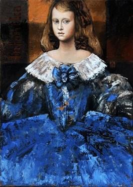 Obraz do salonu artysty Mira Skoczek-Wojnicka pod tytułem Błękitna Infantka