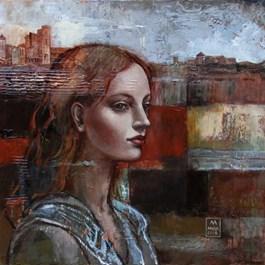Obraz do salonu artysty Mira Skoczek-Wojnicka pod tytułem Kiedyś wrócę do Sieny
