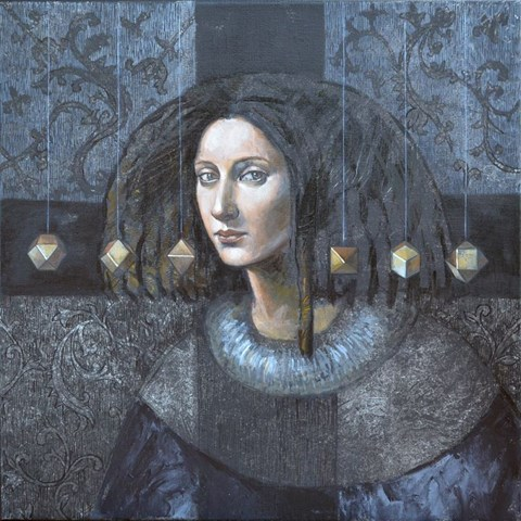 Obraz do salonu artysty Mira Skoczek-Wojnicka pod tytułem Infantka z dredami