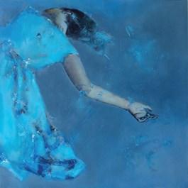 Obraz do salonu artysty Kaja Solecka pod tytułem Niebieska sukienka