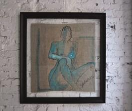 Obraz do salonu artysty Joanna Sarapata pod tytułem Akt turkusowy