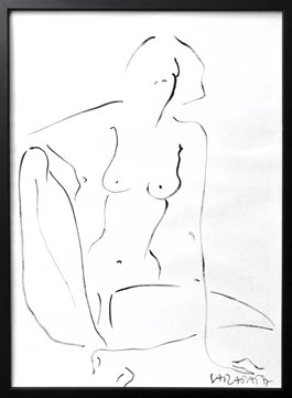 Living room painting by Joanna Sarapata titled Nude Sitted