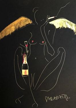 Obraz do salonu artysty Joanna Sarapata pod tytułem Anioły też są zmęczone
