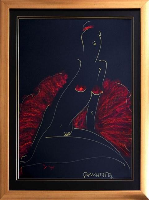 Obraz do salonu artysty Joanna Sarapata pod tytułem Czerwony Akt