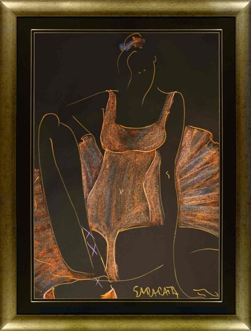 Obraz do salonu artysty Joanna Sarapata pod tytułem Pomarańczowa Ballerina