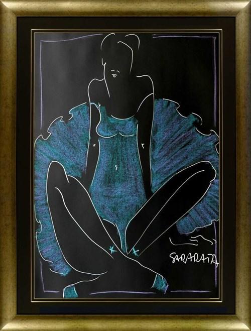 Obraz do salonu artysty Joanna Sarapata pod tytułem Portret niebieskiej balleriny