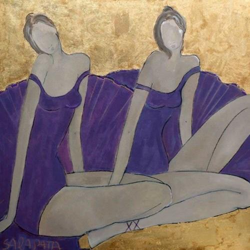 Obraz do salonu artysty Joanna Sarapata pod tytułem Duet z cyklu Ecole de Paris