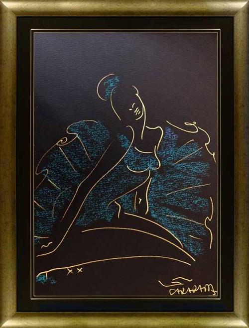 Obraz do salonu artysty Joanna Sarapata pod tytułem Szkic niebieski