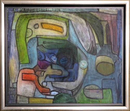 Obraz do salonu artysty Stanisław Młodożeniec pod tytułem Abstrakcja