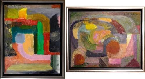 Obraz do salonu artysty Stanisław Młodożeniec pod tytułem Kompozycje (dyptyk)