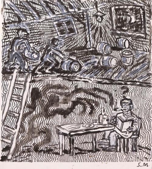 Obraz do salonu artysty Stanisław Młodożeniec pod tytułem Upiór