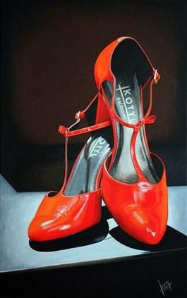 Obraz do salonu artysty Jolanta Lach pod tytułem Buty do wzięcia