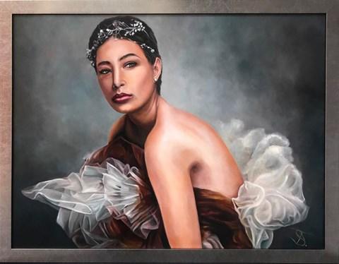 Obraz do salonu artysty Andrzej Sajewski pod tytułem Odpoczynek łabędzia