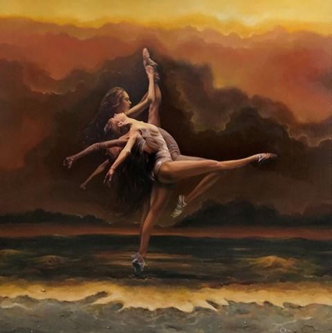Obraz do salonu artysty Andrzej Sajewski pod tytułem Trinity Dance