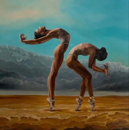 Obraz do salonu artysty Andrzej Sajewski pod tytułem Dancing in the Golden Sun