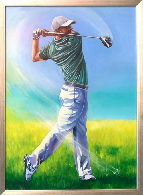 Obraz do salonu artysty Andrzej Sajewski pod tytułem Golfista