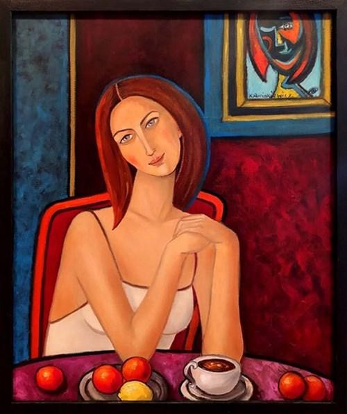 Obraz do salonu artysty Krystyna Ruminkiewicz pod tytułem Portret podwójny takiej jednej