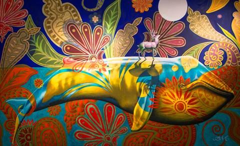 Obraz do salonu artysty Anna  Malinowska pod tytułem Wieloryb i jeleń