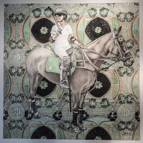 Obraz do salonu artysty Anna  Malinowska pod tytułem Zawodniczka polo