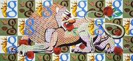 Obraz do salonu artysty Anna  Malinowska pod tytułem Lew z jabłkami